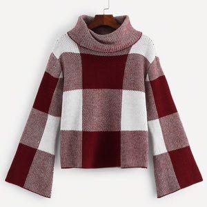 NWOT bell sleeve crop sweater